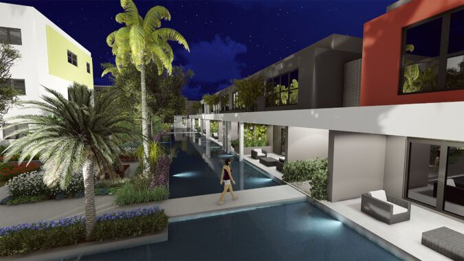 HHG Blocks 3, 6 and islands at Night – reduced size